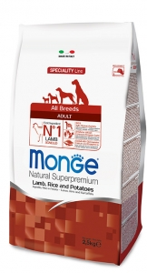 Monge Superpremium All Breeds Agnello con Riso e Patate 12kg