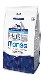 Monge Superpremium Medium Puppy e Junior 2,5kg