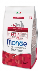 Monge Superpremium Mini Adult 3kg Pollo